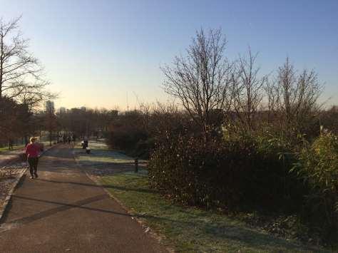 Mile End Park run view