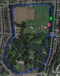 Pymmes Course map