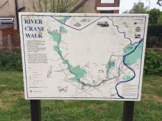 River Crane walk sign
