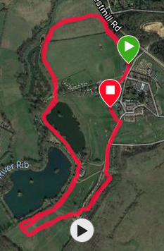 Westmill course map
