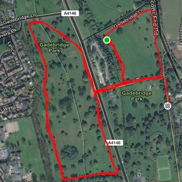 Gadebridge course map