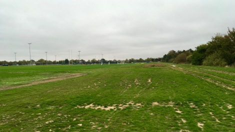 Hazelwood course grass inbound