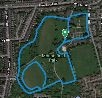 Catford course map