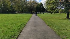 Clapham earth tarmac path