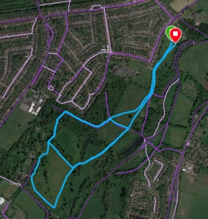 Foots Cray Meadows course map