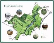 Foots Cray Meadows map