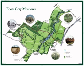 Foots Cray Meadows map