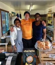 with Mountsfield Park Café owners