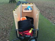 Our parkrun cart