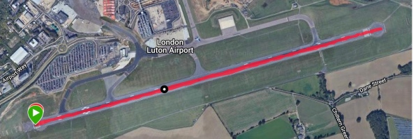 Airport runway course map