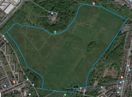 Hanworth course map