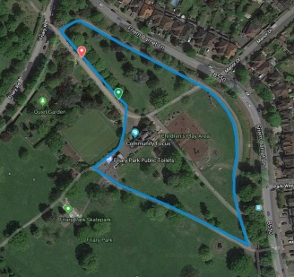 Friary park course map