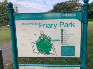 Friary park information sign