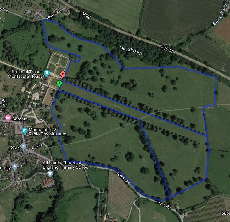 Yeovil Montacute course map