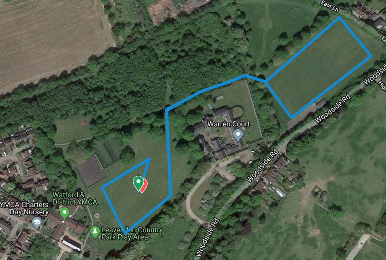 Leavesden Juniors course map
