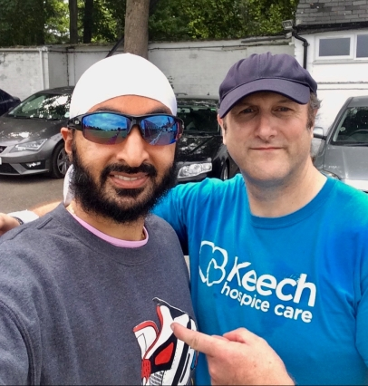 Selfie with Monty Panesar